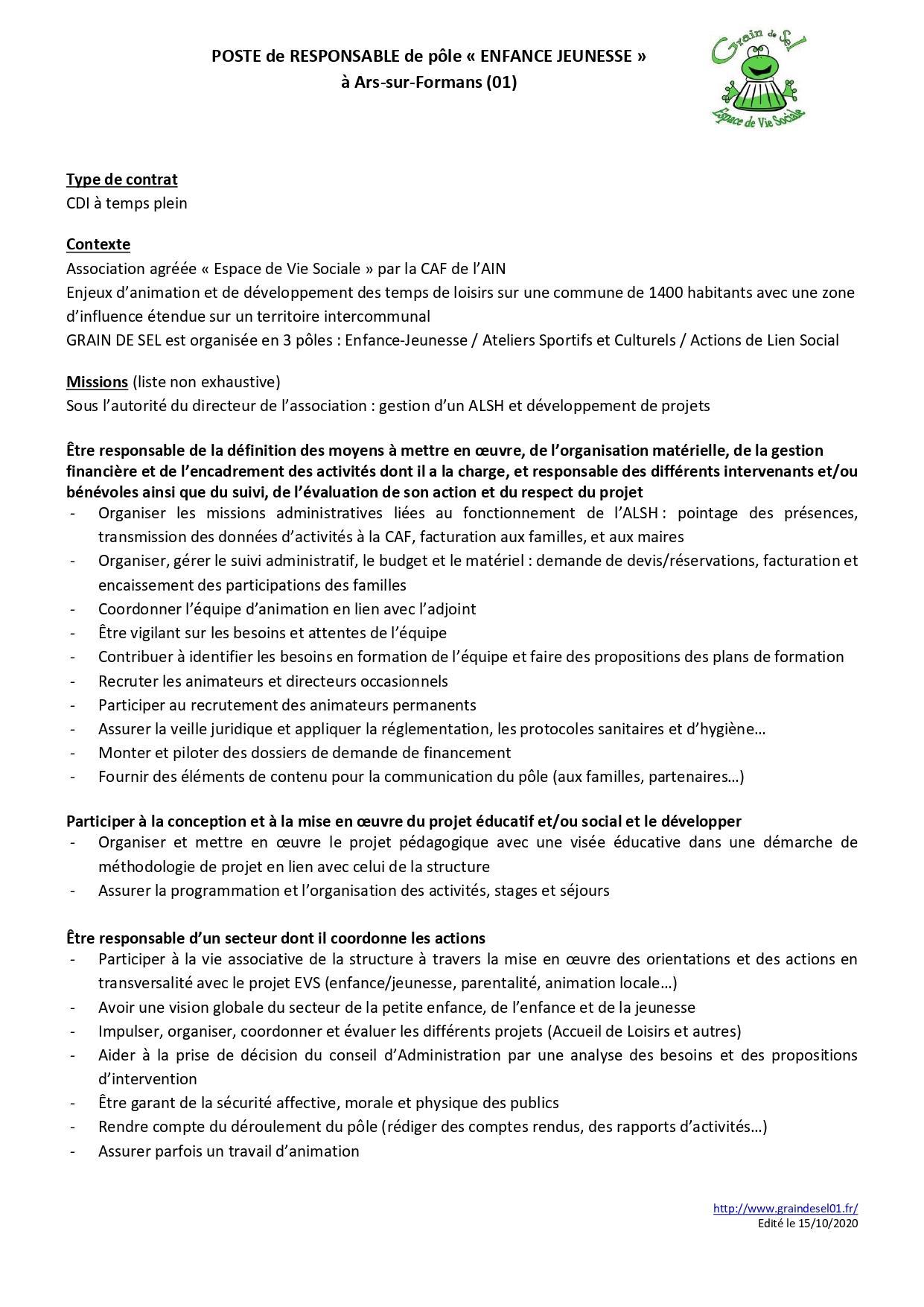 Poste responsable enfance jeunesse novembre 2020 page 0001